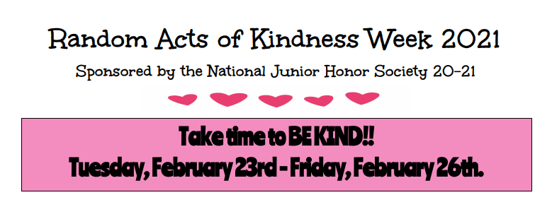 Random Acts of Kindness Week 2021